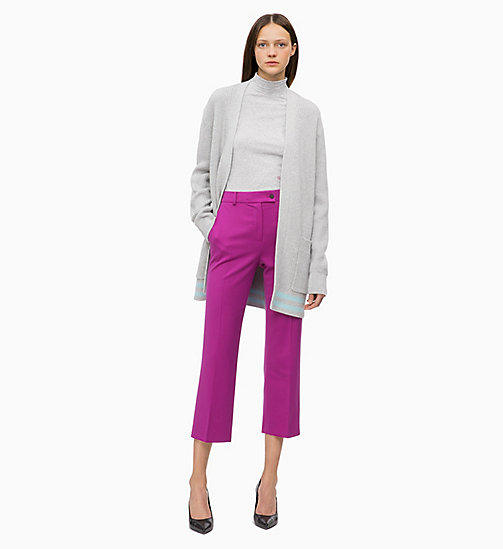 CALVIN KLEIN Wool Blend Ankle Trousers - FUCHSIA - CALVIN KLEIN CLOTHES - detail image 1