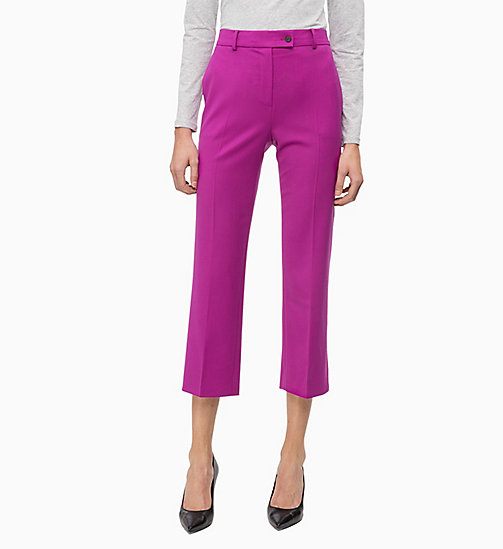 CALVINKLEIN Wool Blend Ankle Trousers - FUCHSIA - CALVIN KLEIN TROUSERS - main image