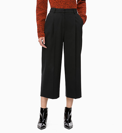 CALVINKLEIN Wool Blend Trousers - BLACK - CALVIN KLEIN TROUSERS - main image