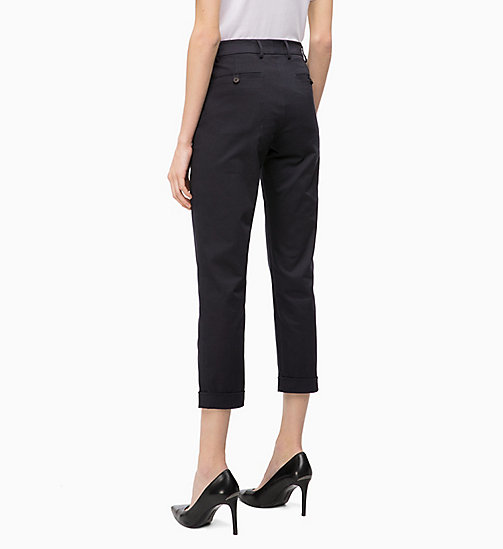 CALVIN KLEIN Cotton Twill Skinny Trousers - DEEP NAVY - CALVIN KLEIN CALVIN KLEIN WOMENSWEAR - detail image 1