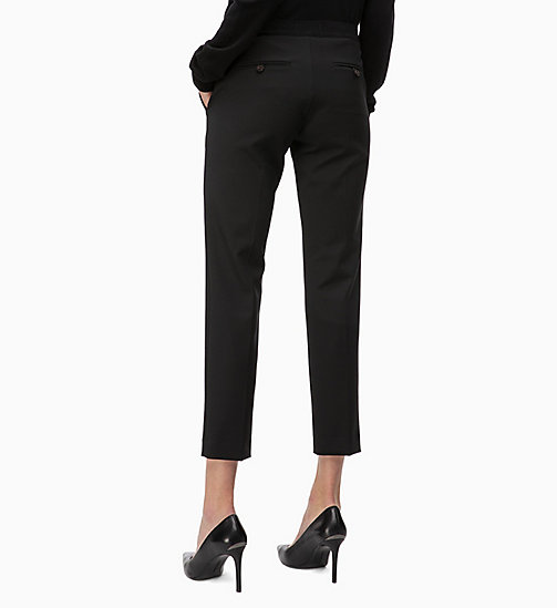 CALVINKLEIN Straight Ankle Trousers - BLACK - CALVIN KLEIN TROUSERS - detail image 1