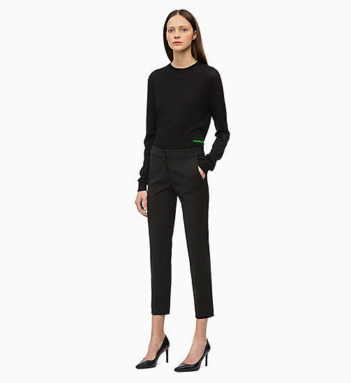 CALVIN KLEIN Straight Ankle Trousers - BLACK - CALVIN KLEIN WOMEN - detail image 1