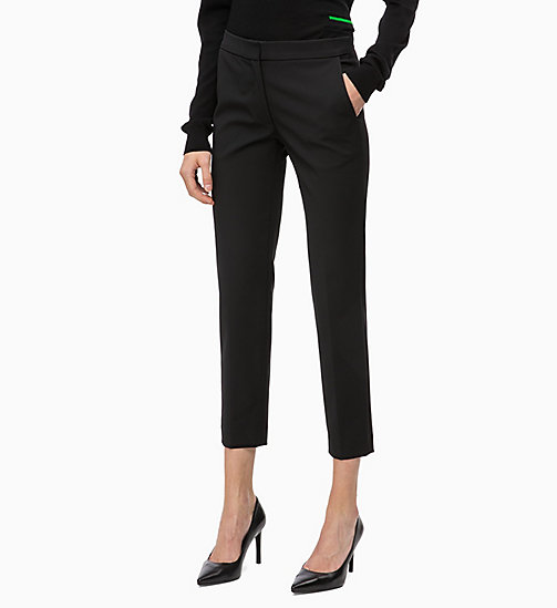 CALVINKLEIN Straight Ankle Trousers - BLACK - CALVIN KLEIN TROUSERS - main image