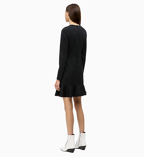 CALVIN KLEIN Milano Jersey Dress - BLACK - CALVIN KLEIN WOMEN - detail image 1
