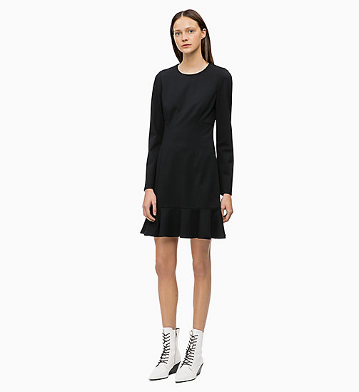 CALVIN KLEIN Milano Jersey Dress - BLACK - CALVIN KLEIN WOMEN - main image