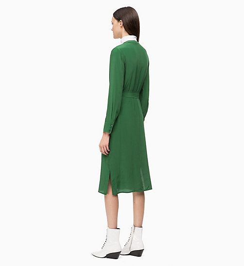 CALVIN KLEIN Belted Shirt Dress - GREEN - CALVIN KLEIN CLOTHES - detail image 1