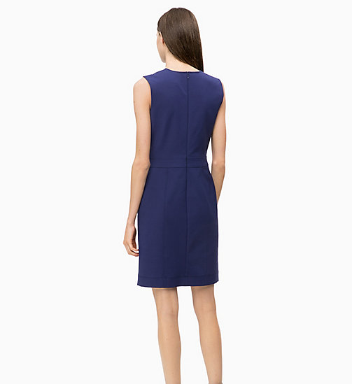 CALVIN KLEIN Cotton Blend Shift Dress - ROYAL BLUE - CALVIN KLEIN CALVIN KLEIN WOMENSWEAR - detail image 1