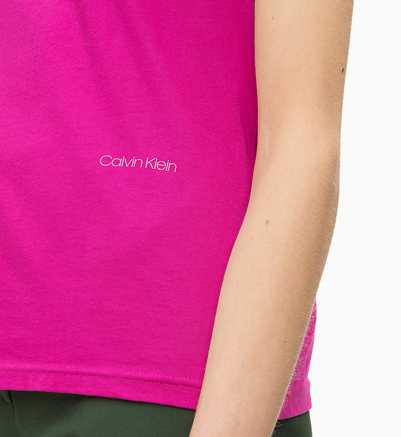 CALVIN KLEIN Combed Cotton T-shirt - SOFT BLUE - CALVIN KLEIN WOMEN - detail image 2