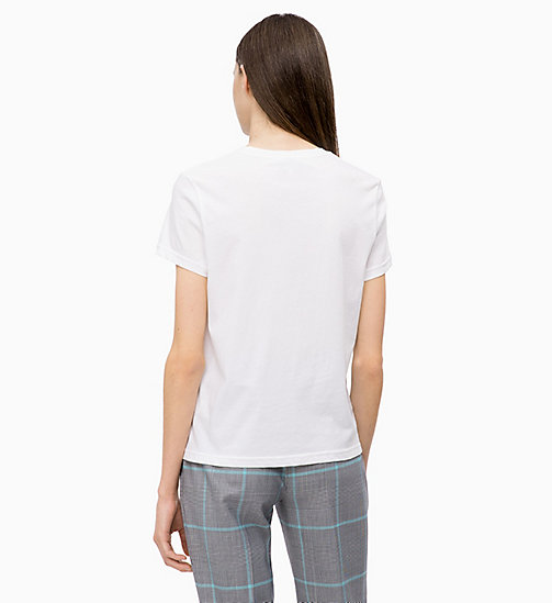 CALVINKLEIN Combed Cotton Logo T-shirt - WHITE - CALVIN KLEIN INVEST IN COLOUR - detail image 1