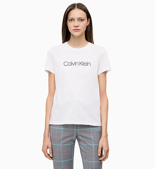 CALVINKLEIN Combed Cotton Logo T-shirt - WHITE - CALVIN KLEIN INVEST IN COLOUR - main image