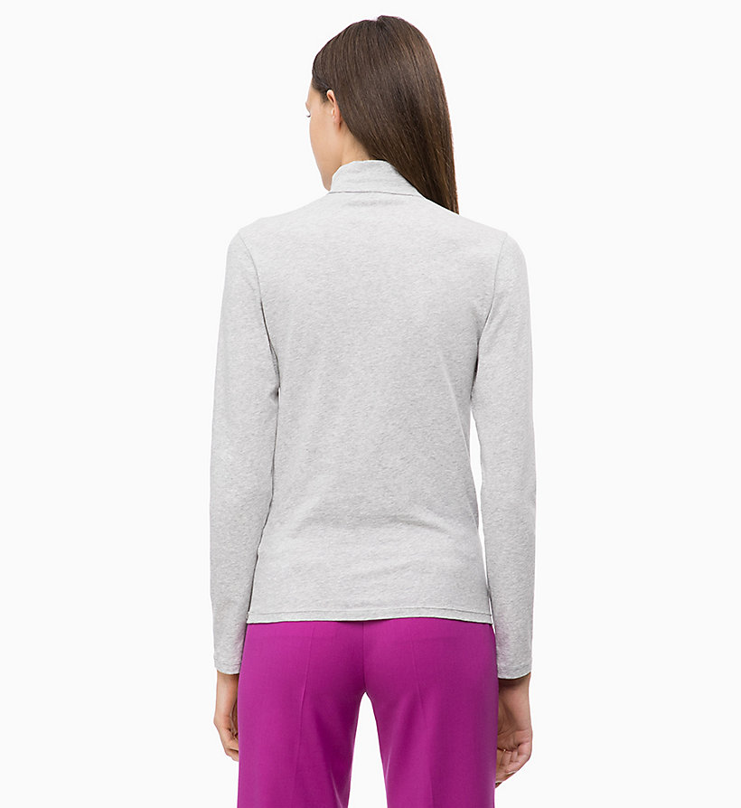 CALVIN KLEIN Long Sleeve Turtleneck Top - CRIMSON - CALVIN KLEIN UNDERWEAR - detail image 1