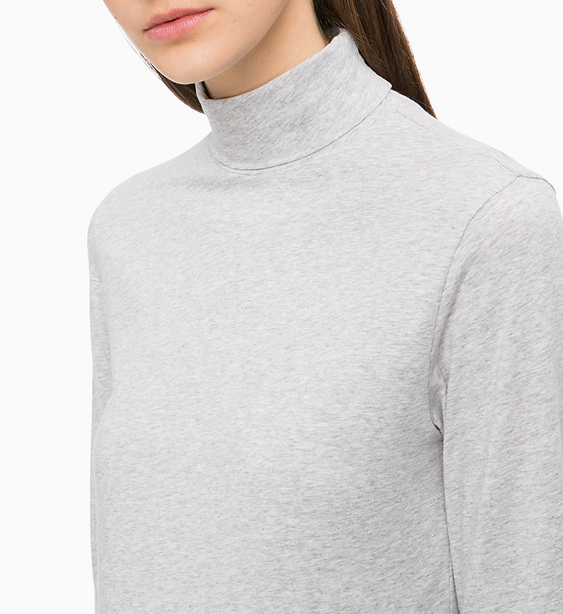 CALVIN KLEIN Long Sleeve Turtleneck Top - CRIMSON - CALVIN KLEIN UNDERWEAR - detail image 2