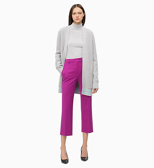 CALVIN KLEIN Long Sleeve Turtleneck Top - LIGHT GREY HTR - CALVIN KLEIN CLOTHES - detail image 1