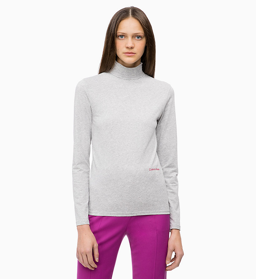 CALVINKLEIN Long Sleeve Turtleneck Top - CRIMSON - CALVIN KLEIN WOMEN - main image