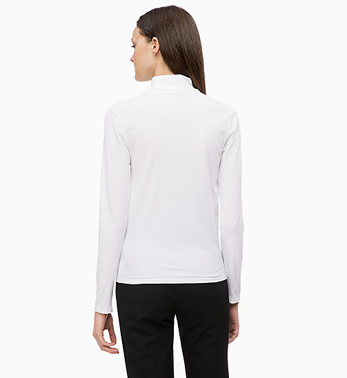 CALVINKLEIN Long Sleeve Turtleneck Top - WHITE - CALVIN KLEIN INVEST IN COLOUR - detail image 1