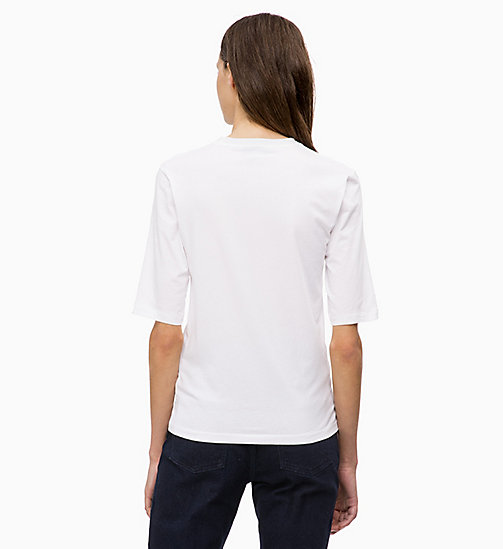 CALVINKLEIN T-Shirt aus Stretch-Baumwolle - WHITE - CALVIN KLEIN FARB-INVESTMENT - main image 1
