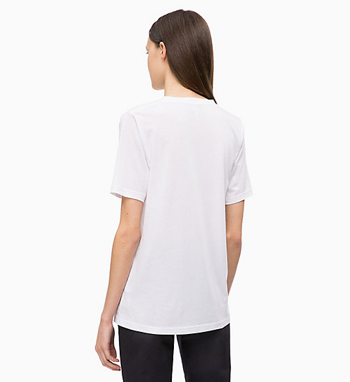 CALVINKLEIN Pleated V-Neck Top - WHITE - CALVIN KLEIN INVEST IN COLOUR - detail image 1