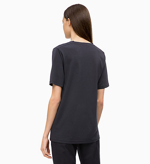 CALVINKLEIN Pleated V-Neck Top - DEEP NAVY - CALVIN KLEIN INVEST IN COLOUR - detail image 1