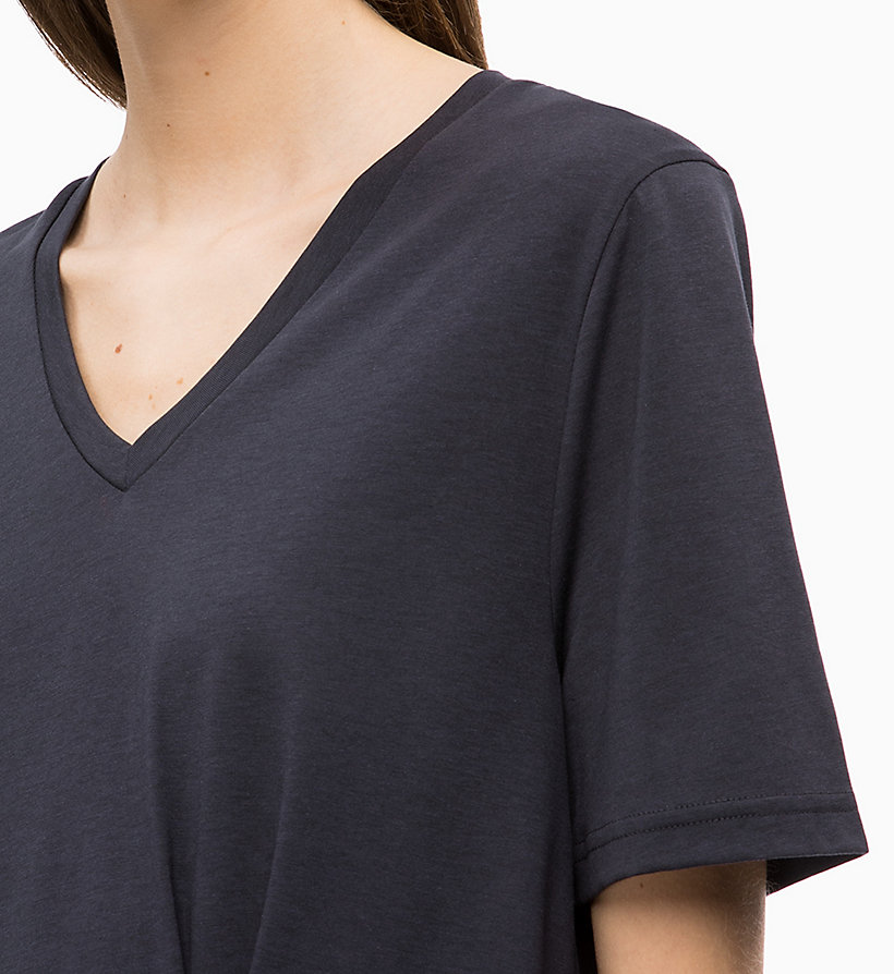 CALVINKLEIN Pleated V-Neck Top - WHITE - CALVIN KLEIN WOMEN - detail image 2
