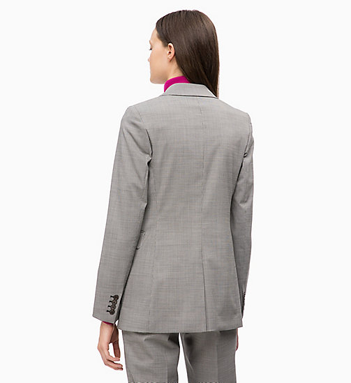 CALVINKLEIN Wool Blend Check Blazer - BABY HOUNDSTOOTH - CALVIN KLEIN NEW IN - detail image 1