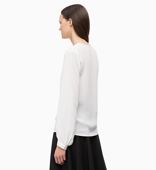 CALVINKLEIN Tie-Neck Blouse - CHALK - CALVIN KLEIN INVEST IN COLOUR - detail image 1
