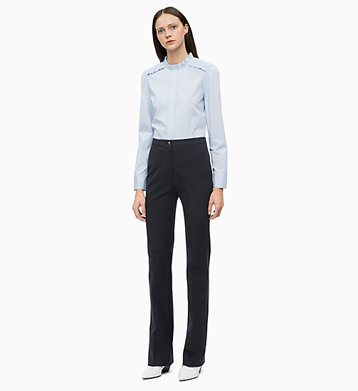 CALVIN KLEIN Cotton Poplin Frilled Shirt - LIGHT BLUE - CALVIN KLEIN CALVIN KLEIN WOMENSWEAR - detail image 1