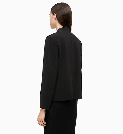 CALVINKLEIN Crepe Shawl Collar Blazer - BLACK - CALVIN KLEIN NEW IN - detail image 1
