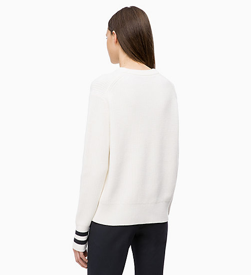 CALVINKLEIN Cotton Wool Jumper - CHALK - CALVIN KLEIN KNITWEAR - detail image 1