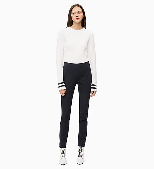 CALVIN KLEIN Cotton Wool Jumper - CHALK - CALVIN KLEIN CALVIN KLEIN WOMENSWEAR - detail image 1