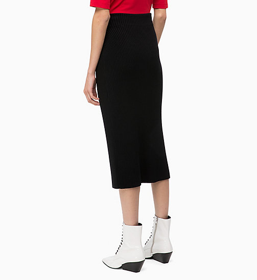CALVIN KLEIN Rib-Knit Pencil Skirt - BLACK - CALVIN KLEIN CLOTHES - detail image 1