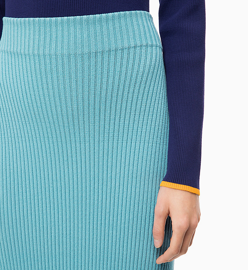 CALVIN KLEIN Rib-Knit Pencil Skirt - ORCHID - CALVIN KLEIN WOMEN - detail image 2