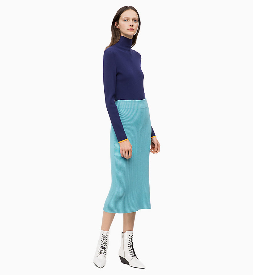 CALVINKLEIN Rib-Knit Pencil Skirt - ORCHID - CALVIN KLEIN WOMEN - detail image 3