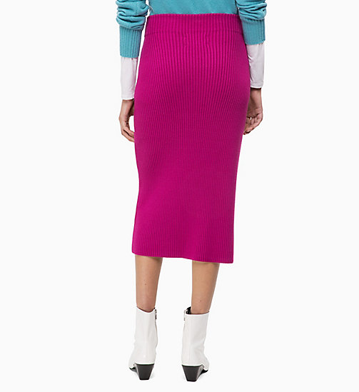 CALVINKLEIN Rib-Knit Pencil Skirt - ORCHID - CALVIN KLEIN CLOTHES - detail image 1