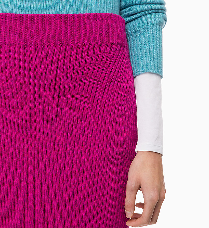 CALVINKLEIN Rib-Knit Pencil Skirt - BLACK - CALVIN KLEIN WOMEN - detail image 2