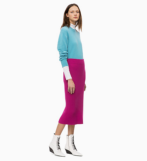 CALVIN KLEIN Rib-Knit Pencil Skirt - ORCHID - CALVIN KLEIN CLOTHES - detail image 1