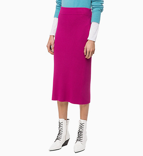 CALVIN KLEIN Rib-Knit Pencil Skirt - ORCHID - CALVIN KLEIN CLOTHES - main image