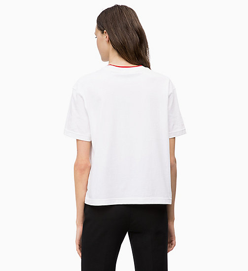 CALVINKLEIN Organic Cotton T-shirt - WHITE - CALVIN KLEIN INVEST IN COLOUR - detail image 1