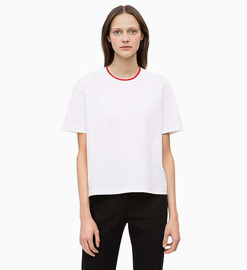 CALVINKLEIN Organic Cotton T-shirt - WHITE - CALVIN KLEIN INVEST IN COLOUR - main image