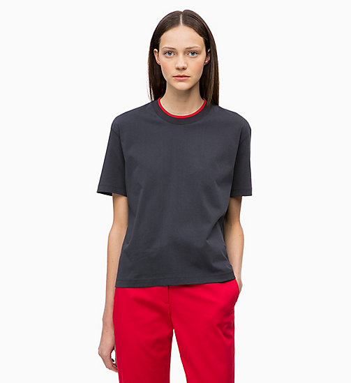 CALVINKLEIN Organic Cotton T-shirt - DEEP NAVY - CALVIN KLEIN INVEST IN COLOUR - main image