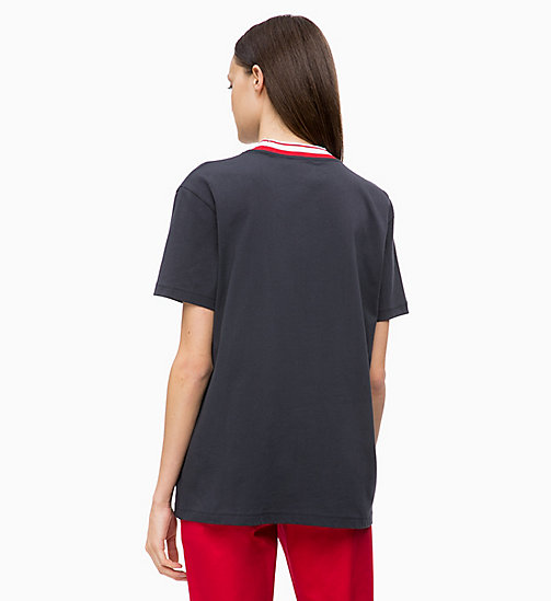 CALVINKLEIN Organic Cotton T-shirt - DEEP NAVY - CALVIN KLEIN INVEST IN COLOUR - detail image 1