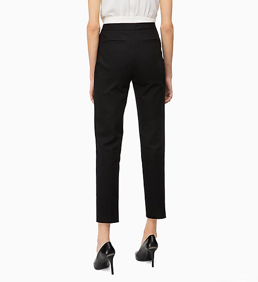 CALVIN KLEIN High Rise Ankle Trousers - BLACK - CALVIN KLEIN CLOTHES - detail image 1