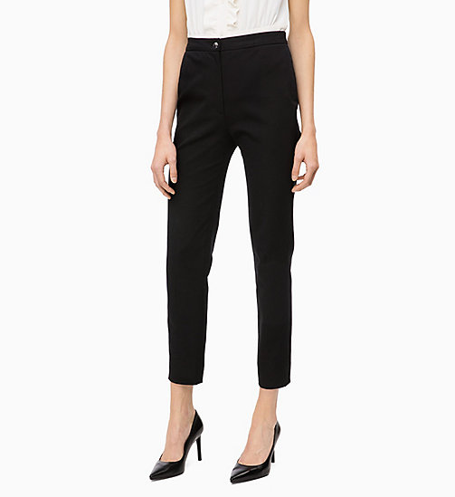 CALVIN KLEIN High Rise Ankle Trousers - BLACK - CALVIN KLEIN CLOTHES - main image