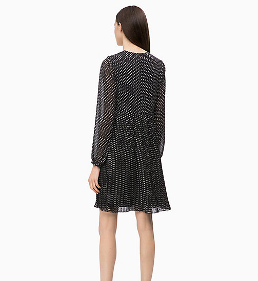 CALVIN KLEIN Crepe Printed Dress - SMALL STAR BLACK - CALVIN KLEIN CLOTHES - detail image 1