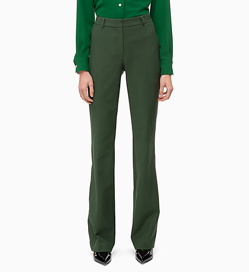 CALVIN KLEIN High Rise Bootcut Trousers - FIR - CALVIN KLEIN WOMEN - main image