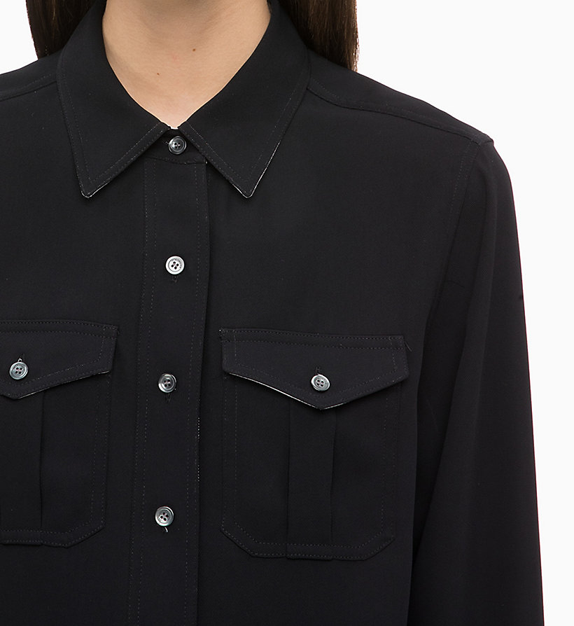 CALVINKLEIN Twill Police Pocket Shirt - GREEN - CALVIN KLEIN WOMEN - detail image 2