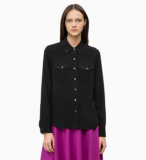CALVIN KLEIN Twill Police Pocket Shirt - BLACK - CALVIN KLEIN WOMEN - main image