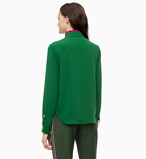 CALVINKLEIN Twill Police Pocket Shirt - GREEN - CALVIN KLEIN SHIRTS & TOPS - detail image 1
