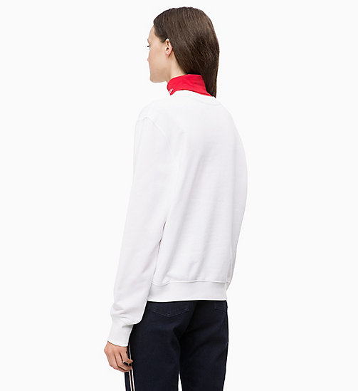 CALVINKLEIN Printed Sweatshirt - WHITE - CALVIN KLEIN INVEST IN COLOUR - detail image 1