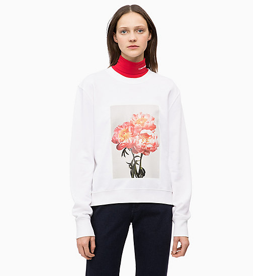 CALVINKLEIN Printed Sweatshirt - WHITE - CALVIN KLEIN INVEST IN COLOUR - main image