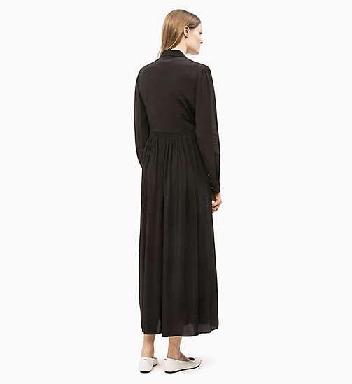 CALVIN KLEIN Long Sleeve Maxi Dress - BLACK - CALVIN KLEIN CLOTHES - detail image 1